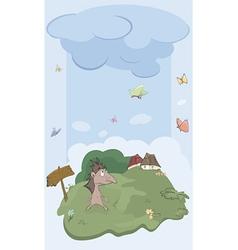 Hedgehog on a meadow vector image