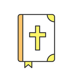 holy bible color icon vector image