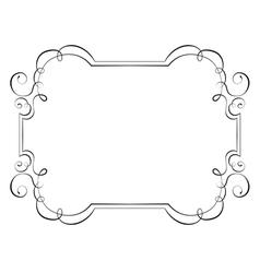 Horizontal vintage frame vector