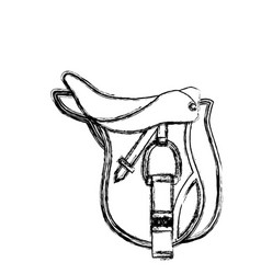 horse riding equipment accesory vector image