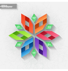 Infographic template with six colorful labels vector image