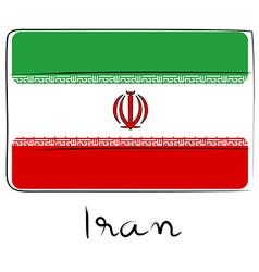 Iran flag doodle vector