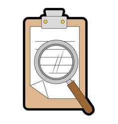 Isolated clipboard documents vector