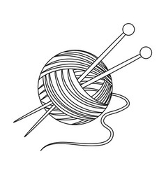 Knittingold age single icon in outline style vector