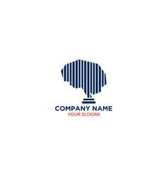 Legal brain logo design vector