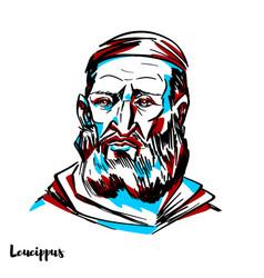 leucippus portrait vector image