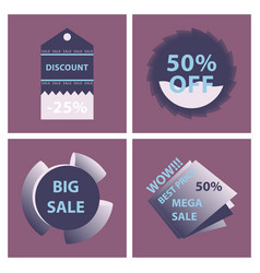 Mega sale with upto 50 discount offer creative vector