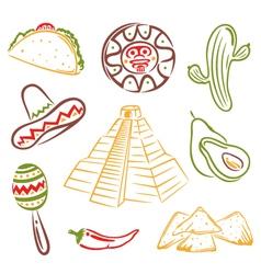Mexico mexican food vector