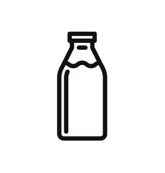 milk bottle icon vector image