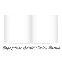 Mock Up for album or booklet or magazine in vector image