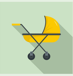 modern baby carriage icon flat style vector image
