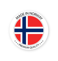 Modern made in norway label vector