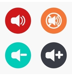 Modern sound colorful icons set vector