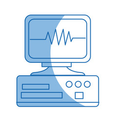 monitoring cardiology pulse cae device equipment vector image