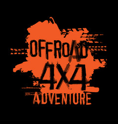 Off-road handmade lettering vector