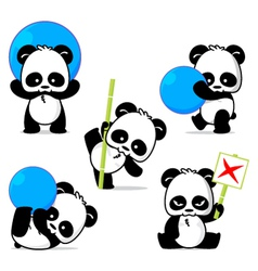 Panda style vector