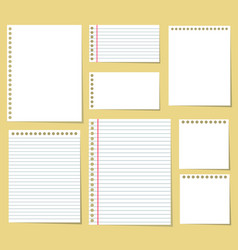 paper blank notes office document message vector image