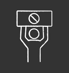 protester chalk icon vector image