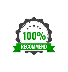 recommended stamp sticker seal round banner vector image