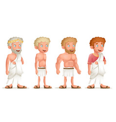 Roman greek retro vintage old young toga loincloth vector