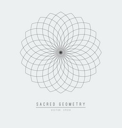 Sacred geometry line element flower life vector