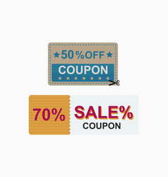 Sale coupon card percent discount symbol vector