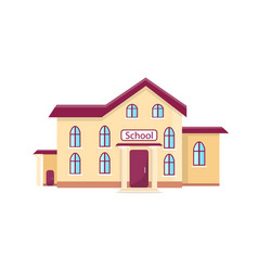 school isolated cartoon with vector image