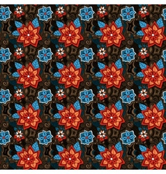 seamless colorful summer floral pattern vector image