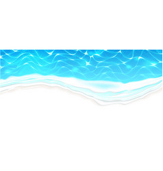 seaside beach azure waves on coast vector image