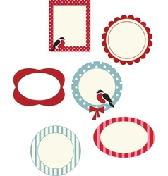 set of frames for christmas cards vector image