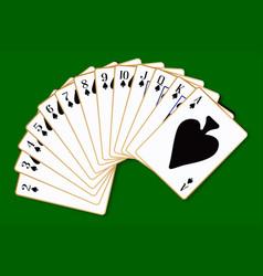 spades suit vector image