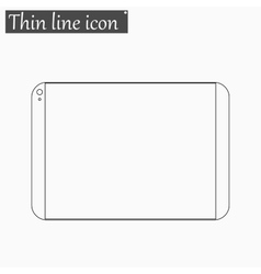 tablet computer icon Style thin line vector image