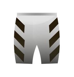 Textile sport professional cycling short grey vector