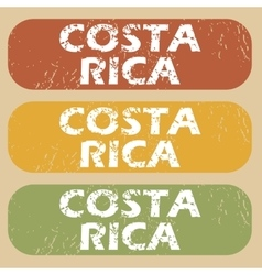 Vintage Costa Rica stamp set vector