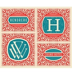 Vintage logo template Hotel Restaurant Business vector image