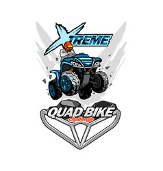 X-treme quad bike atv logo isolated background vector