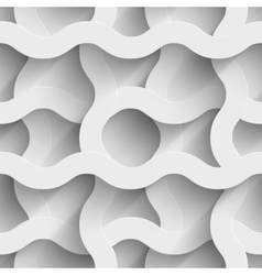Abstract white paper waves 3d seamless background vector image vector image