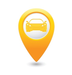 car3 MAP pointer yellow vector image
