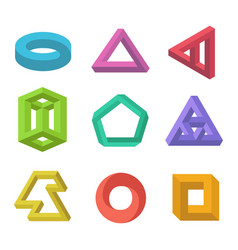 impossible objects set vector image
