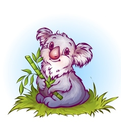 koala in cartoon style vector image vector image
