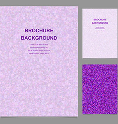 Purple triangle tile mosaic brochure template vector image vector image