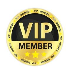 VIP Member Golden Badge vector image vector image