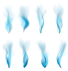 abstract Smoke blue background abstract white vector image