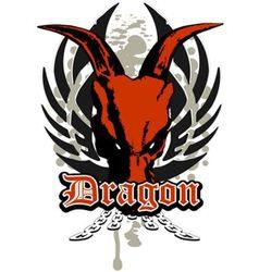 dragon skull vector image vector image
