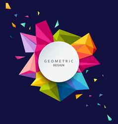 geometric design colorful triangle geometric vector image vector image