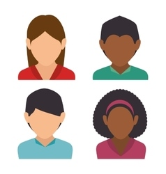 group person social media isolated icon design vector image