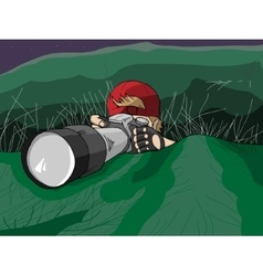 Photographer Hiding on Mission vector image
