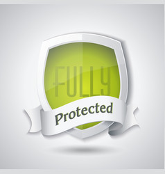 protection shield concept design security badge vector image vector image