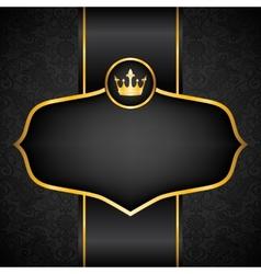 Royal black background vector image vector image