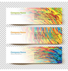 Abstract banners white vector